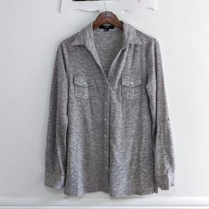 XXI Heather Grey Button Up Blouse